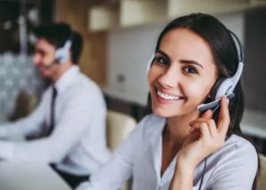 Fix My Credit - Woman smiling while on call